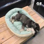 QB ins狗窩貓窩四季通用雪納瑞泰迪中小型犬秋冬保暖棉窩寵物用品 百搭潮品