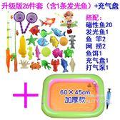 兒童釣魚玩具磁性魚套裝益智游戲小貓釣魚池玩具TW【一周年店慶限時85折】