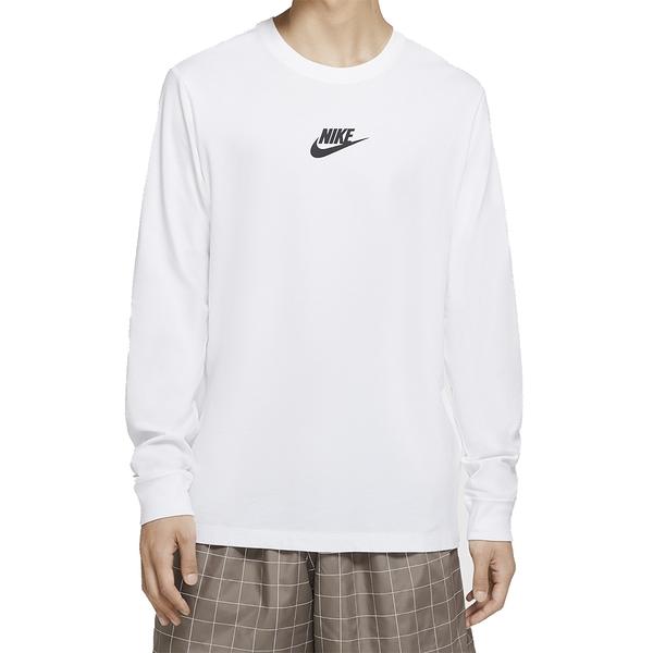 NIKE NSW LS TEEJDISTICKRREPEAT 白 男 運動 慢跑 健身 長袖上衣 CU7391100