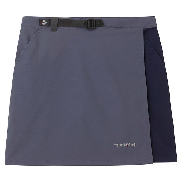 [好也戶外]mont-bell STRETCH OD WRAP SHORTS褲裙-灰藍/藍黑 No.1105583-GB/BN