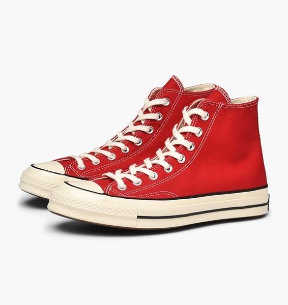 CONVERSE-紅色高筒帆布鞋-NO.164944C