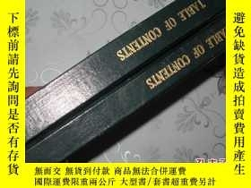 二手書博民逛書店table罕見of contents 英文 精裝12480