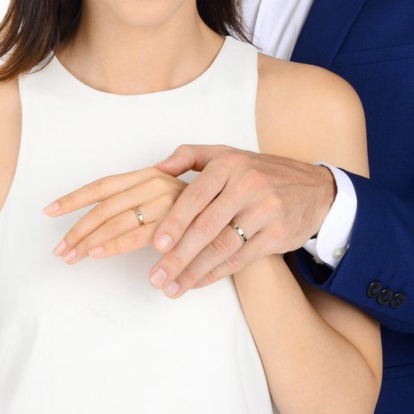 點睛品 Promessa 鉑金鑽石閃耀婚戒-男戒