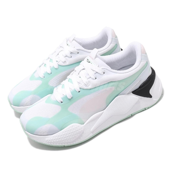 Puma 休閒鞋 RS-X3 Plas_Tech Wns 白 綠 女鞋 老爹鞋 復古慢跑鞋 運動鞋【ACS】 37164002