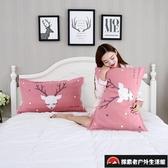 一對裝情侶全棉歐式枕頭巾三層柔軟吸汗純棉紗布枕巾【探索者戶外生活館】