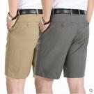 夏季中年西裝短褲休閒褲子外穿男士爺爺寬鬆五分褲中老年爸爸中褲 印象家品