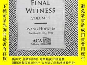 二手書博民逛書店FINAL罕見WITNESS(第一部第二部)英文原版書Y2499