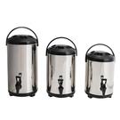 奶茶桶 不銹鋼商用大容量奶茶桶水龍頭雙層冷熱奶茶店保溫桶果汁豆漿茶桶 星河光年DF