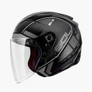 【東門城】SOL SO-7E 幻影(消光黑銀) 半罩式安全帽 雙鏡片