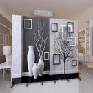 屏風屏風隔斷牆客廳小戶型臥室現代簡約時尚折屏行動折疊雙面辦公室  快速出貨