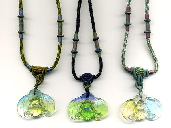 鹿港窯~開運古法水晶琉璃雕項鍊~福在眼前◆附精美包裝◆免運費送到家