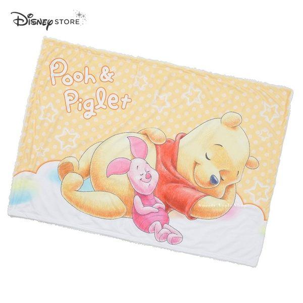 日本 Disney Store 迪士尼商店 限定 小熊維尼&小豬 毛毯