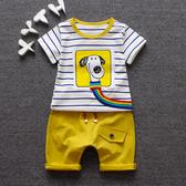 童裝夏裝兒童套裝嬰幼兒夏天衣服1-2-3-4-5歲寶寶帥氣短袖T恤褲子 【快速出貨】