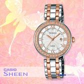 CASIO 卡西歐 SHEEN手錶專賣店 SHE-4034BSG-7A 女錶 不鏽鋼錶帶  防水
