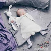 INS春秋季針織蓋毯寶寶兔子白熊立體毛毯嬰兒空調被抱毯推車毯