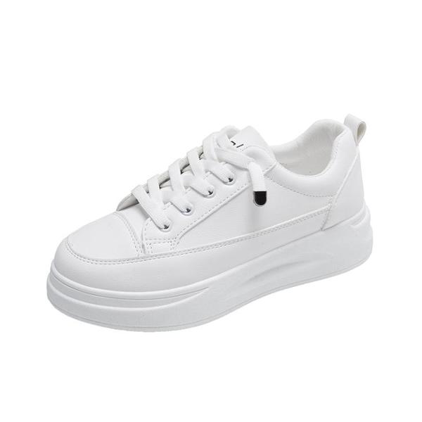 小白鞋女鞋2021年春季網紅板鞋百搭爆款2021新款老爹ins運動白鞋 伊蘿