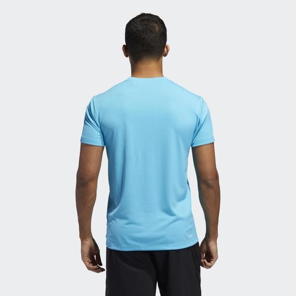ADIDAS AEROREADY 男裝 短袖 慢跑 健身 排汗 透氣 藍【運動世界】GK6131