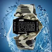 新款個性創意迷彩飛機防水LED電子手錶男女士情侶學生手錶