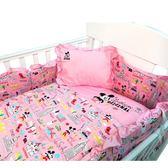 ☆愛兒麗☆【ViVibaby】迪士尼米奇愛旅行五件組寢具(粉紅)