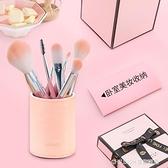 皮革筆筒辦公用品桌面收納時尚創意多功能可愛筆筒 童趣潮品