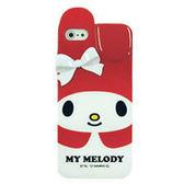 iPhone5S 日本三麗鷗原廠 Melody立體兔耳 經典紅白 手機軟殼 Enya恩雅殼 (第二件1元)