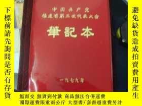 二手書博民逛書店罕見1979年中國共產*福建省第三次代表大會筆記本(未用)Y26