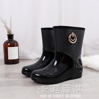新品中筒雨鞋女士時尚水靴雨靴防滑防水膠鞋套鞋短筒水鞋『小淇嚴選』