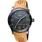 MIDO 美度 Multifort 先鋒系列時尚機械手錶-黑x咖啡色/42mm M0254073606110