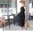 《DA5773》內著系列~純色背心拼接網紗裙襬長洋裝/襯裙 OrangeBear