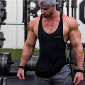 運動健身背心男健美工字寬鬆彈力棉質肌肉型吊帶跨欄訓練潮流個性 【快速出貨】