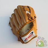 棒球壘球用品-棒球手套壘球手套小朋友鍊習PVC壘球手套8英寸【全館88折最後三天】