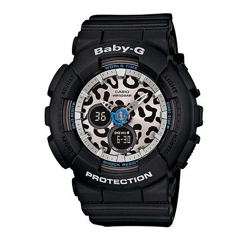 ✤Baby-G✤ BABY-G 百搭豹紋腕錶 BA-120LP-1ADR 黑