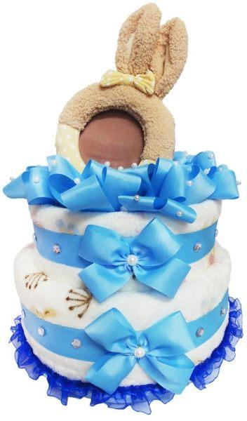 娃娃屋樂園~Le Sucre法國砂糖兔(相框)尿布蛋糕-藍色 每組2299元/生日蛋糕/彌月禮滿月禮週歲禮