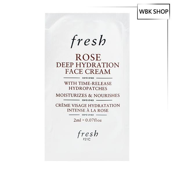 Fresh 玫瑰深層保濕面霜 2ml Rose Deep Hydration Face Cream - WBK SHOP