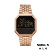 【酷伯史東】NIXON RE-RUN 方形電子錶 玫瑰金 潮人裝備 潮人態度 禮物首選