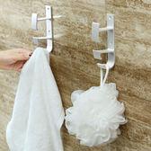 ✭慢思行✭【M43】太空鋁臉盆掛勾 浴室收納架 免打孔 壁掛 臉盆架 門後 牆壁 可釘 黏貼