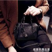 時尚女包個性手提包鉚釘機車包可愛迷你鍊條斜挎小包   維娜斯精品屋