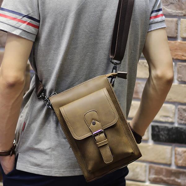 男斜背小包 多用途穿皮帶腰包【非凡上品】x365