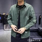 夏季薄款長袖襯衫男士外套復古簡約寬鬆工裝純棉春秋休閒襯衣 創時代3c館