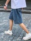 港風復古夏季薄款牛仔短褲男潮流ins百搭寬鬆直筒韓版學生五分褲 露露日記