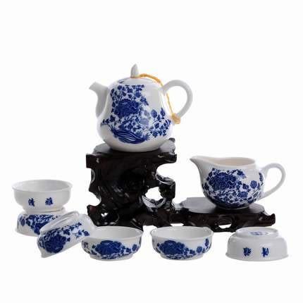青花瓷茶具8件 葫蘆壺(8件套組價格/白色)