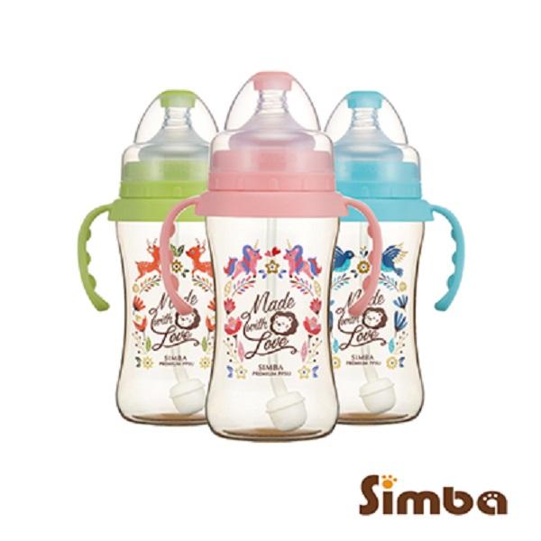 小獅王辛巴 Simba 桃樂絲PPSU自動把手寬口雙凹中奶瓶(270ml)-3款可選