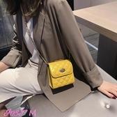小方包chic小包包女新款時尚側背斜背包韓版洋氣百搭菱格鏈條小方包春季新品
