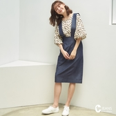 CANTWO JEANS寬版吊帶直筒裙-共兩色~初秋換季~限時激殺3折