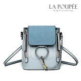 後背包  時尚金屬圓環多背法小水桶包 4色-La Poupee樂芙比質感包飾 (現貨+預購)