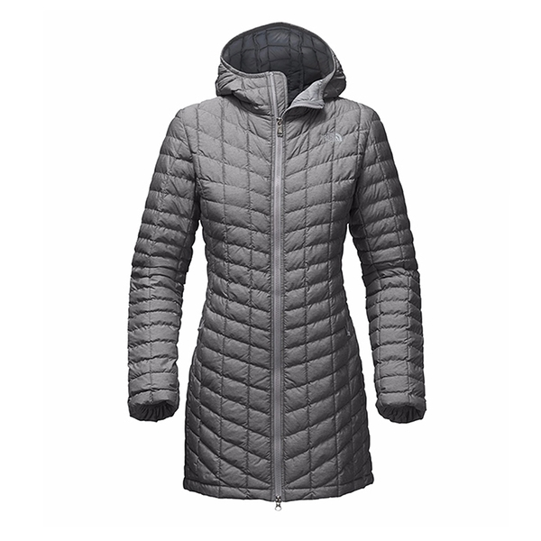 The North Face 女 ThermoBall暖魔球長版保暖外套 灰 NF0A364BDYY【GO WILD】