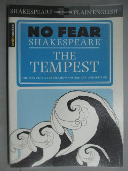 【書寶二手書T6/原文小說_GJI】SparkNotes The Tempest_Shakespeare, Willia