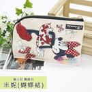 ☆小時候創意屋☆ 迪士尼 米妮(蝴蝶結) 頸掛包 手機包 卡片包 零錢包 證件包 收納包 悠遊卡包