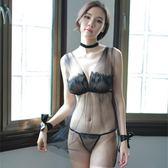 情趣內衣服套裝性感蕾絲開檔露乳制服透視裝