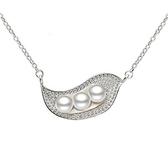 項鍊 925純銀珍珠吊墜-精緻時尚生日情人節禮物女飾品73dk398【時尚巴黎】